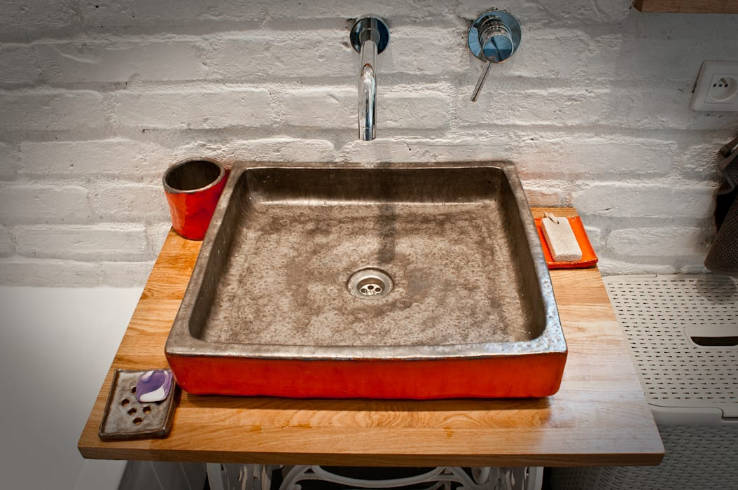 umywalka: styl , w kategorii Łazienka zaprojektowany przez dekornia,