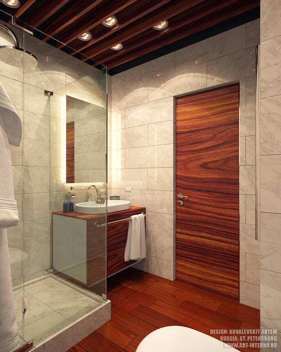 Душевая: Ванные комнаты в . Автор – ART-INTERNO, Модерн