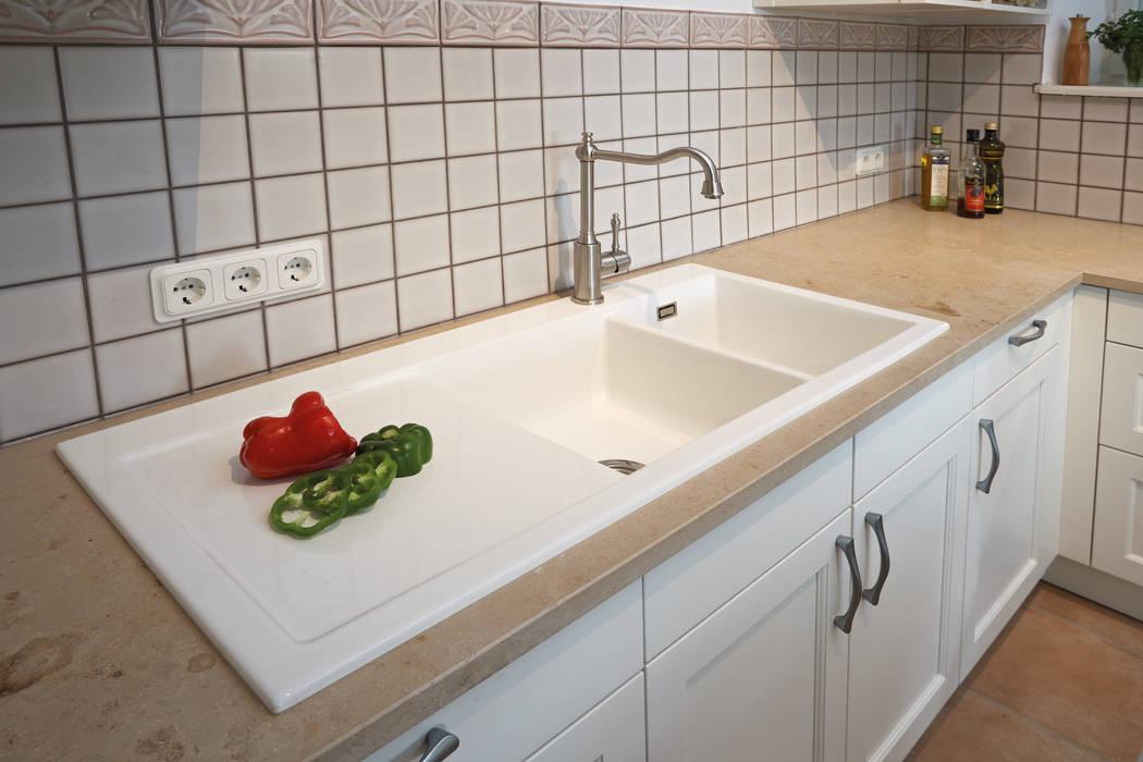 Keramik-spüle mit doppelbecken von küchen quelle landhaus ...