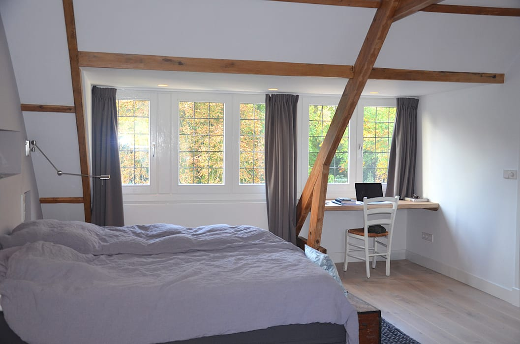 master bedroom Landelijke slaapkamers van Boks architectuur Landelijk