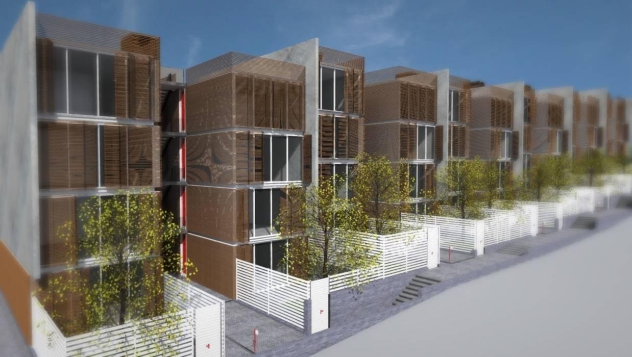 SOCIAL HOUSING - CONCORSO DI IDEE Case moderne di Nau Architetti Moderno