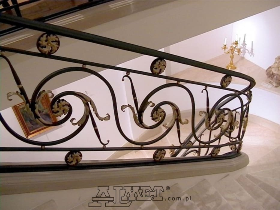 Balustrada – wzór B122b1 od ALMET Kowalstwo Artystyczne Klasyczny