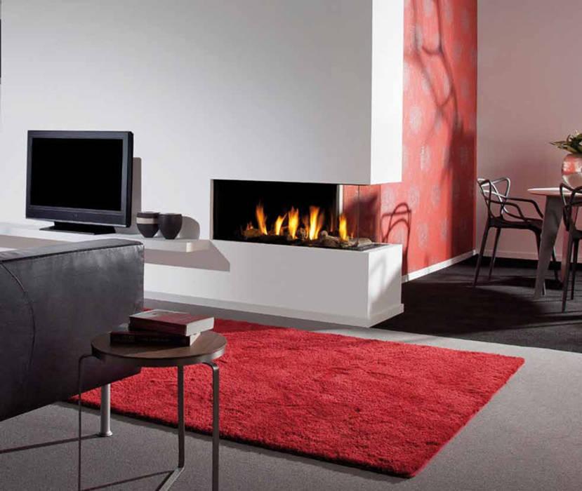 Kominek gazowy Kwline Aspect C L: styl , w kategorii Salon zaprojektowany przez TAPIS.PL