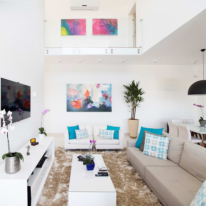 Ruang Keluarga Modern Oleh SAA_SHIEH ARQUITETOS ASSOCIADOS Modern