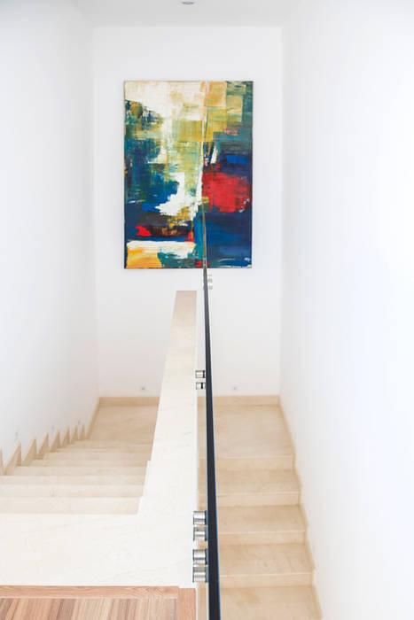 Casa FD SAA_SHIEH ARQUITETOS ASSOCIADOS Corredores, halls e escadas modernos