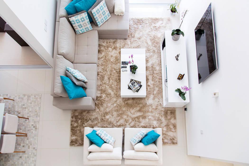 Casa FD SAA_SHIEH ARQUITETOS ASSOCIADOS Salas de estar modernas
