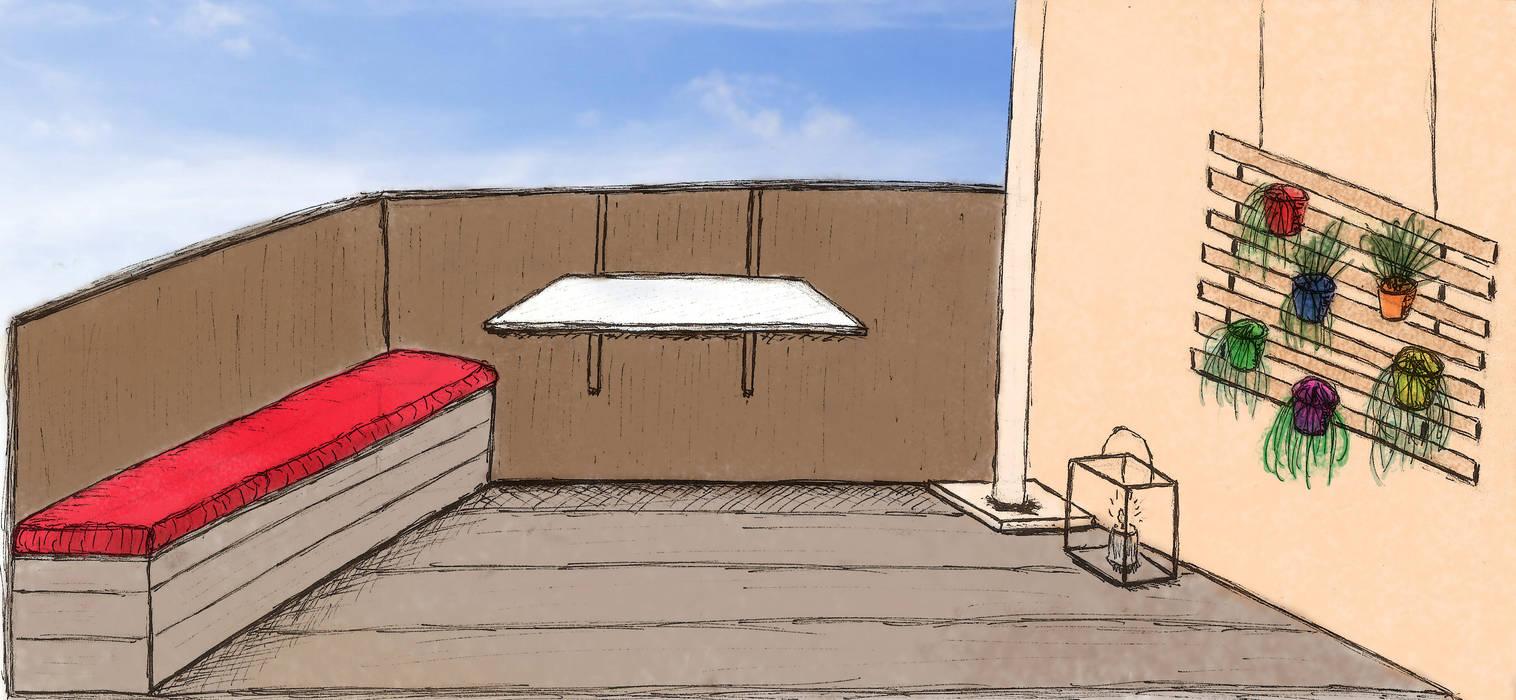 Colorisation: Terrasse de style  par In&Out Garden