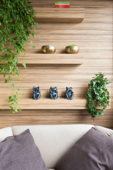 Detalhe Varanda Gourmert: Terraços  por Haruf Arquitetura + Design,Tropical