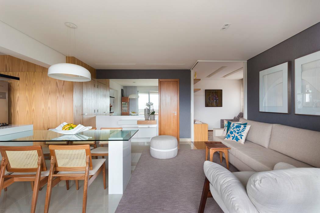 Sala de Estar e Jantar: Salas de estar  por Haruf Arquitetura + Design,Moderno