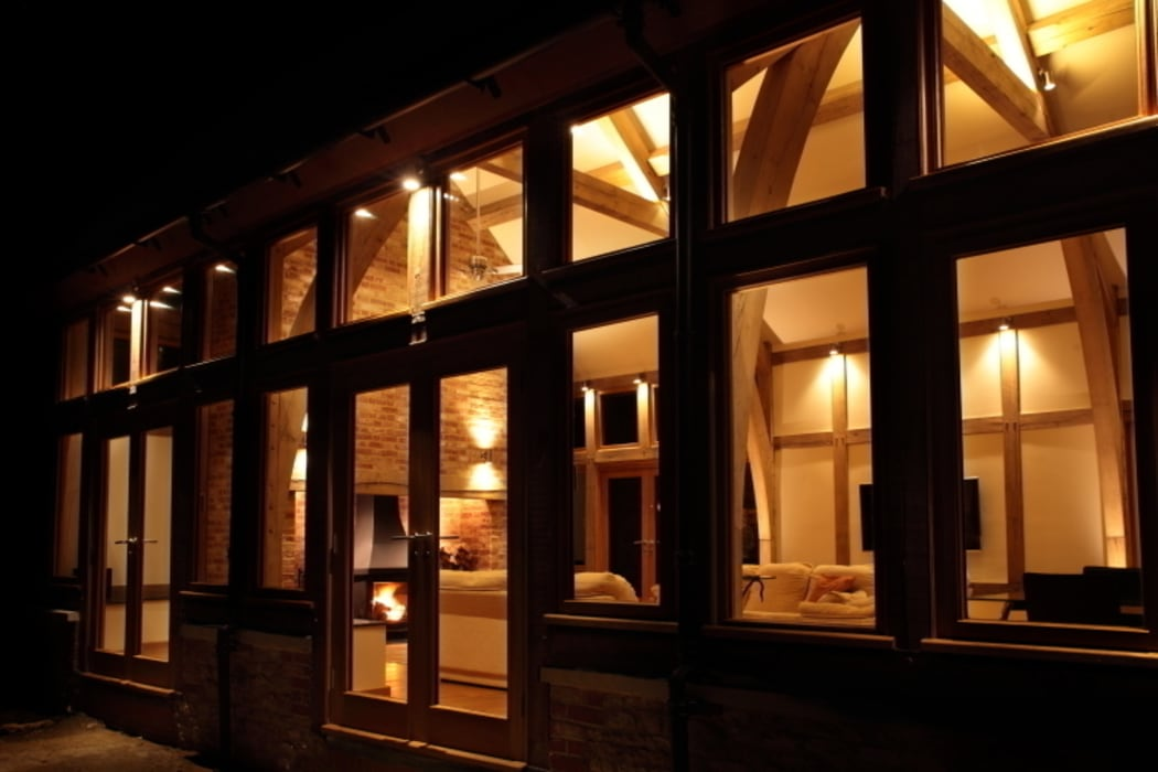 View from the terrace:  Houses by Sam Coles Lighting, Classic