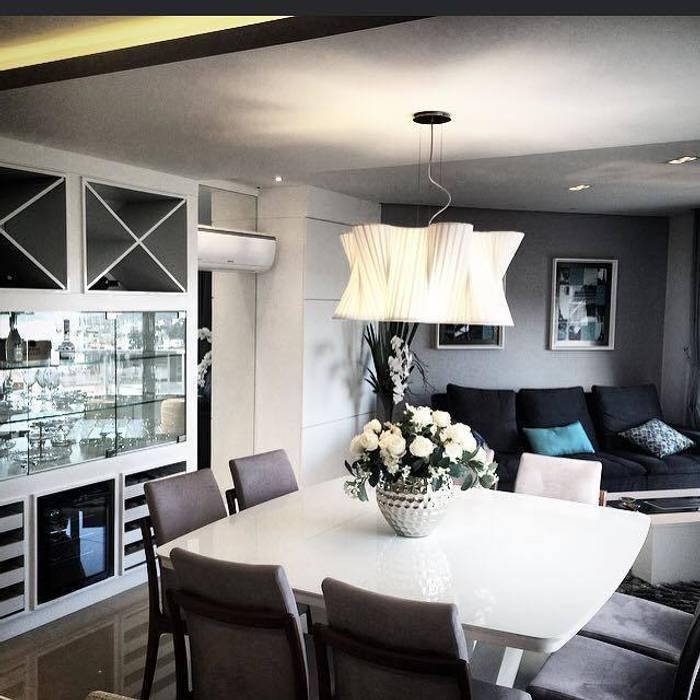 Apartamento D | B: Salas de jantar  por Jessica Rodrigues Arquitetura,Moderno