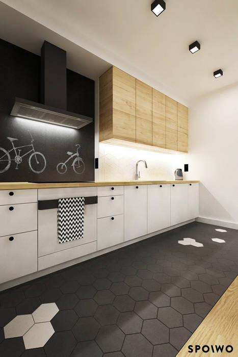 Kuchnia HEX: styl , w kategorii Kuchnia zaprojektowany przez SPOIWO studio