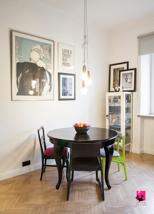 Eclectic style dining room by Pink Pug Design Interior Eclectic
