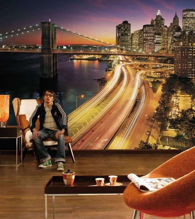 Fototapete New York City Lights : modern  von fototapete.de,Modern