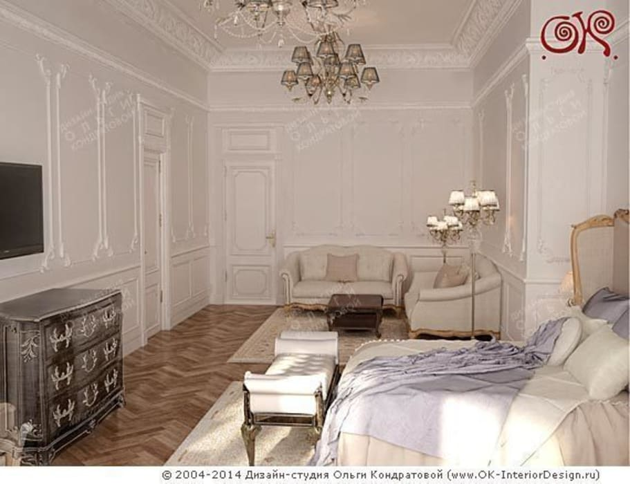 Светлая спальня: Спальни в . Автор – Дизайн студия Ольги Кондратовой