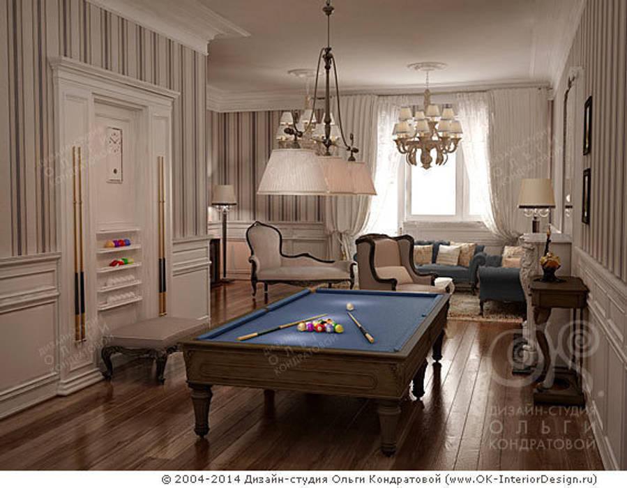 Бильярдная в гостиной: Гостиная в . Автор – Дизайн студия Ольги Кондратовой
