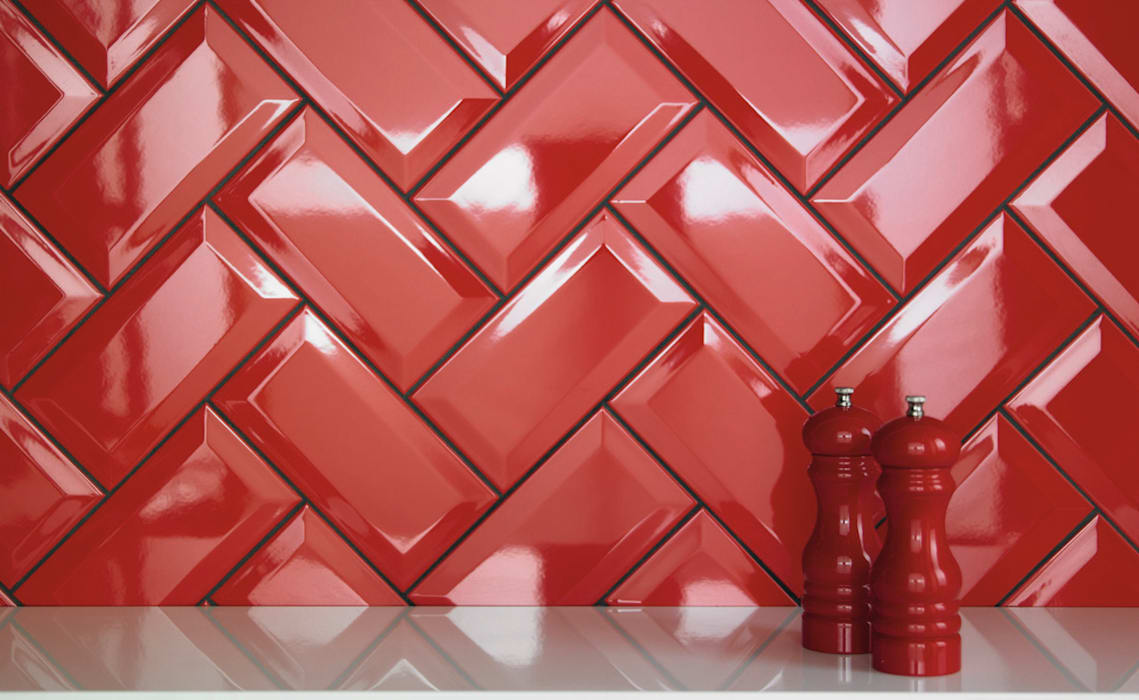 Bevel Brick Ceramic Kitchen Tiles: modern  by The London Tile Co., Modern
