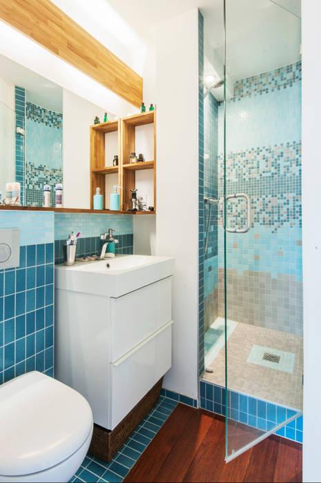 salle de douche Salle de bain moderne par goodnova godiniaux Moderne
