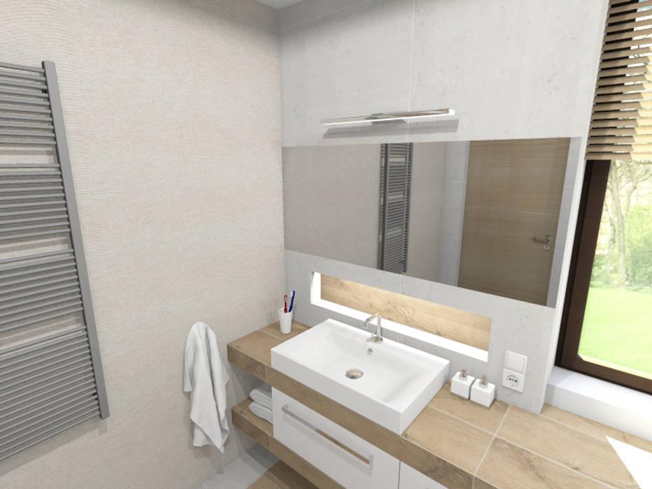 Modern Bathroom by Tomasz Korżyński Design Modern Tiles