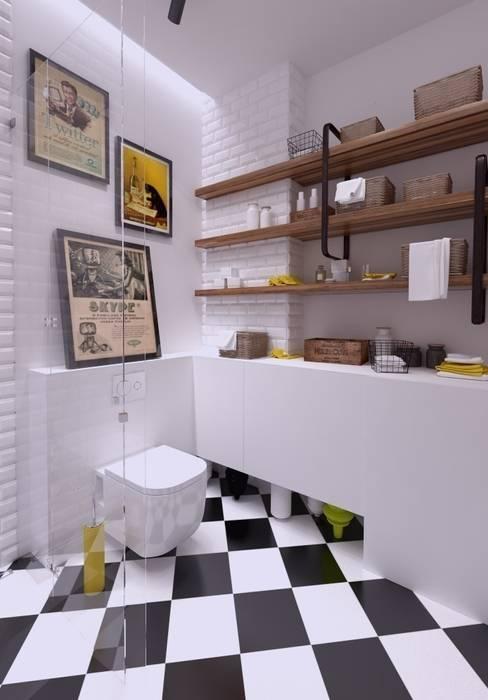 Mieszkanie na wynajem 31m2 Warszawa-Opcja II Industrialna łazienka od The Vibe Industrialny