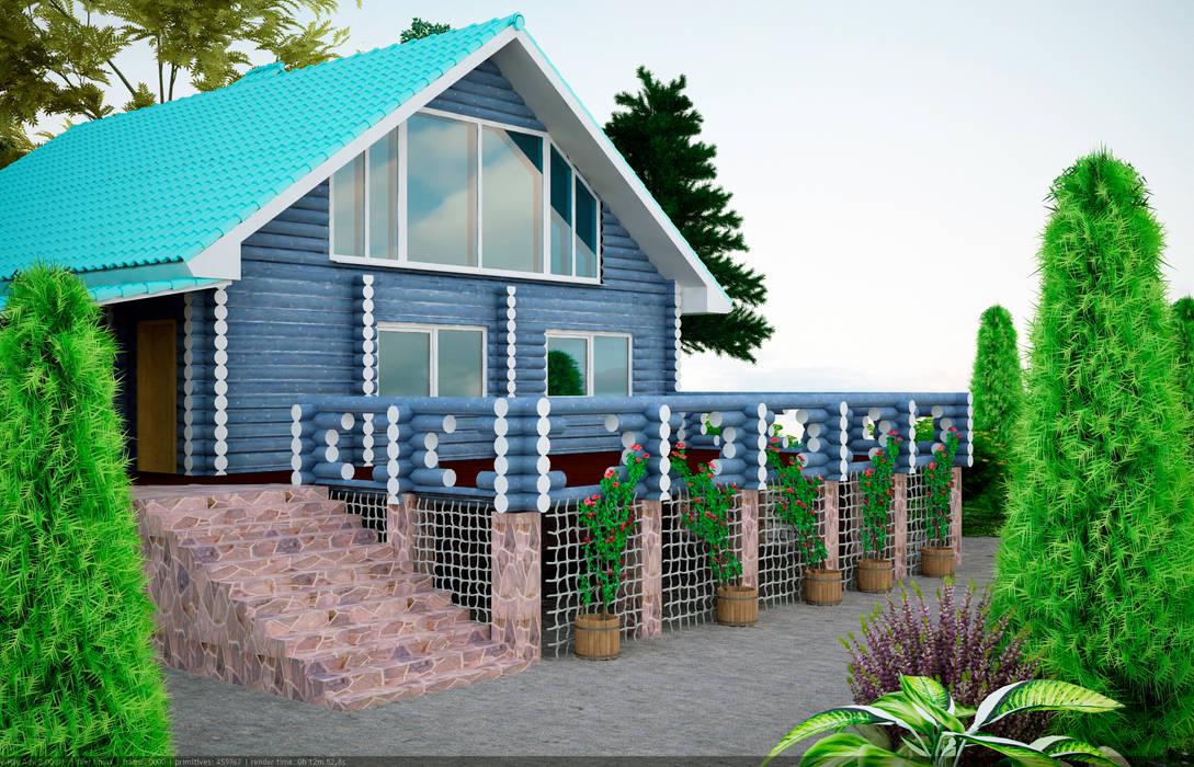 Casas de estilo rural de Студия дизайна и декора Алины Кураковой Rural