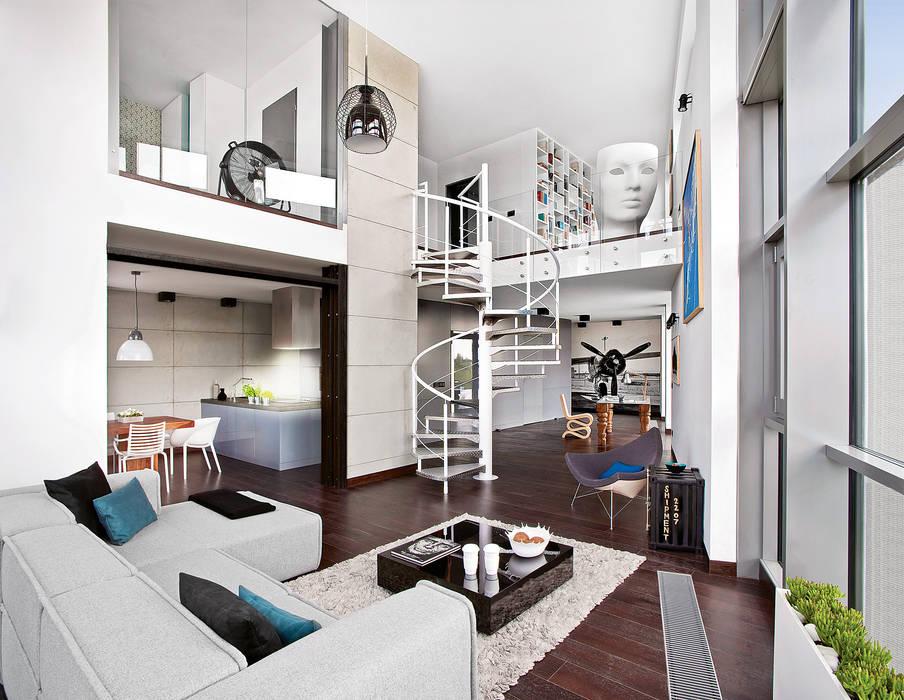 justyna smolec architektura & design Industrial corridor, hallway & stairs