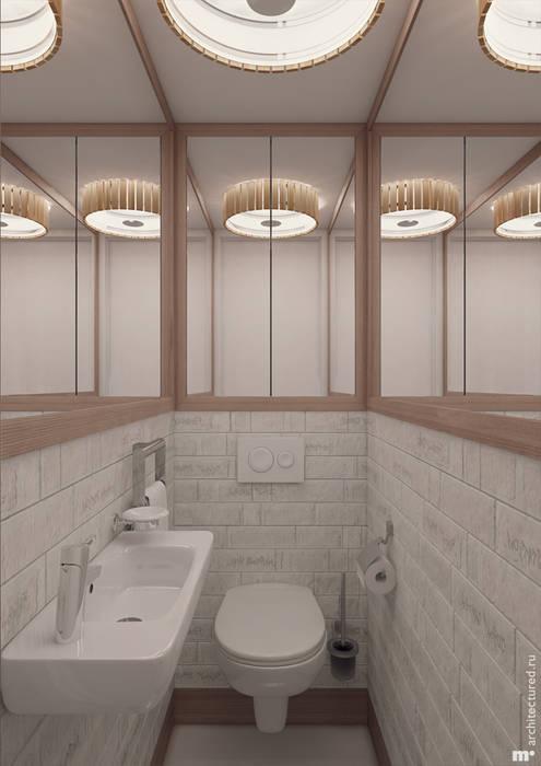 Санузел: Ванные комнаты в . Автор – Architectured - мастерская Маргариты Рассказовой