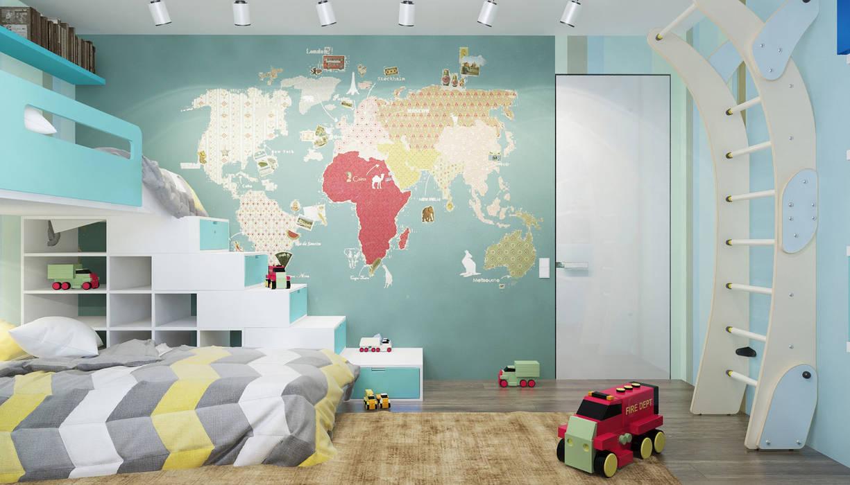 Квартира в ЖК Новопеределкино: Детские комнаты в . Автор – Elena Potemkina,