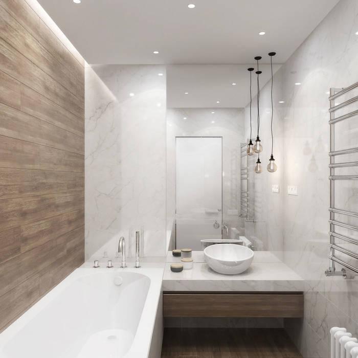 Квартира в ЖК Завидное: Ванные комнаты в . Автор – Elena Potemkina