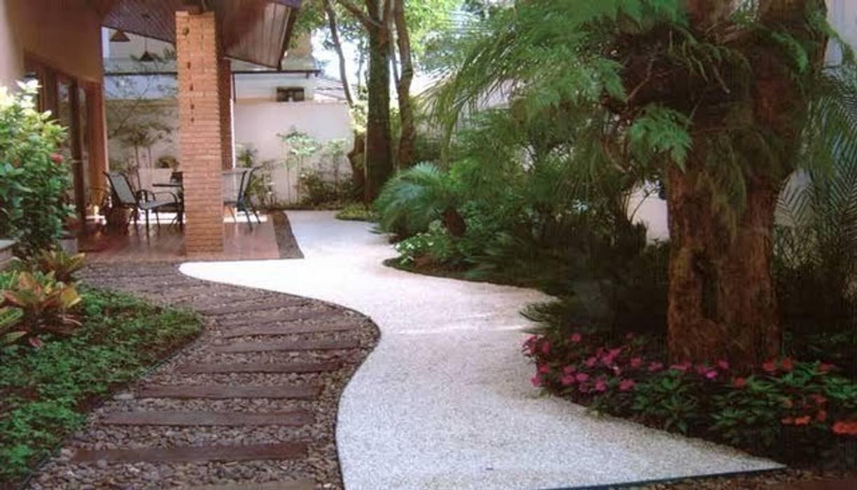 Jardim residencial Jardins tropicais por A Varanda Floricultura e Paisagismo Tropical
