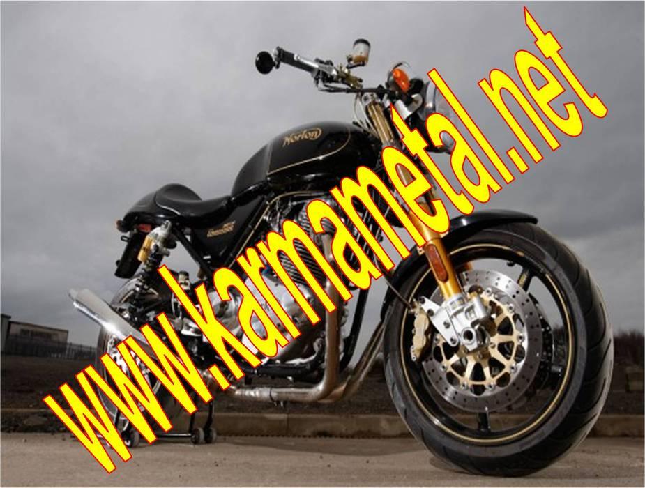 KARMA METAL – KARMA METAL-Motosiklet Parkı Demiri İmalatı Parkları Ölçüleri:  tarz Garaj / Hangar, Endüstriyel