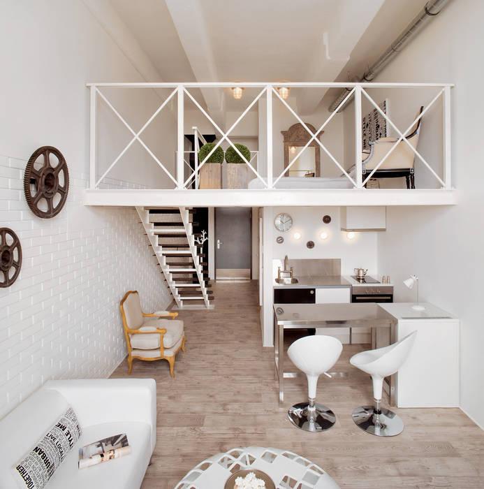 Couloir et hall d'entrée de style  par justyna smolec architektura & design