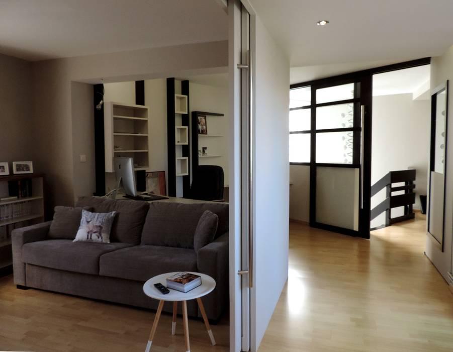 bureau, chambre d'amis...: Bureau de style de style Moderne par Emilie Bigorne, architecte d'intérieur CFAI