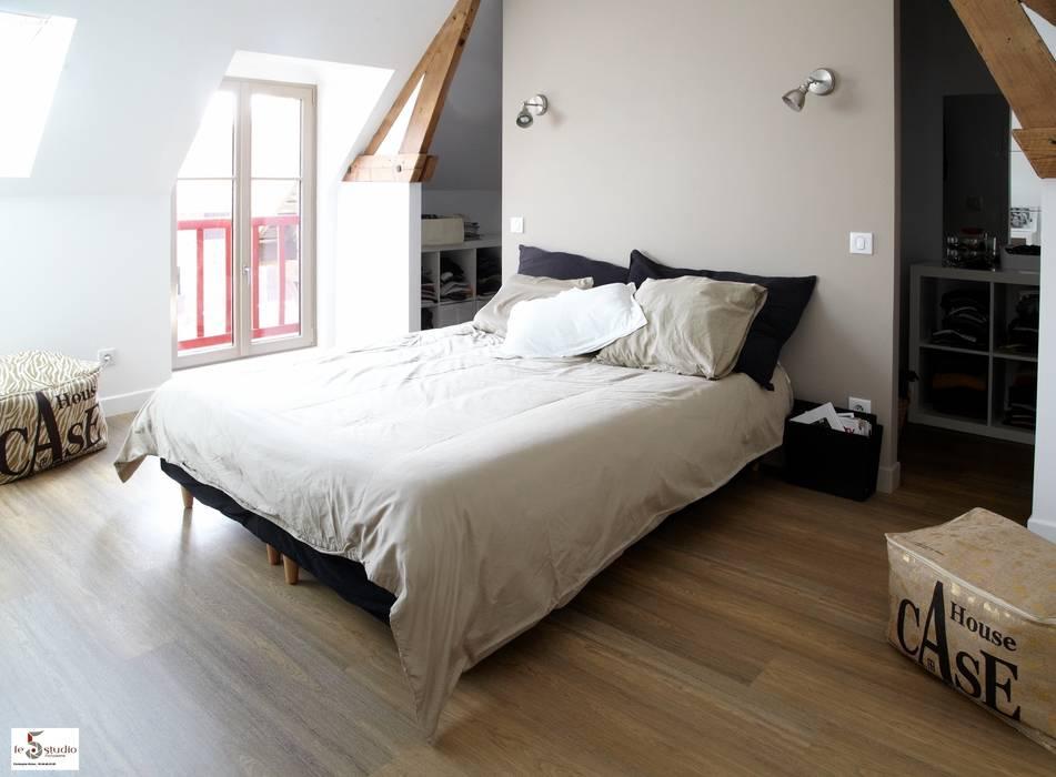 création d'une suite parentale: Chambre de style  par Emilie Bigorne, architecte d'intérieur CFAI