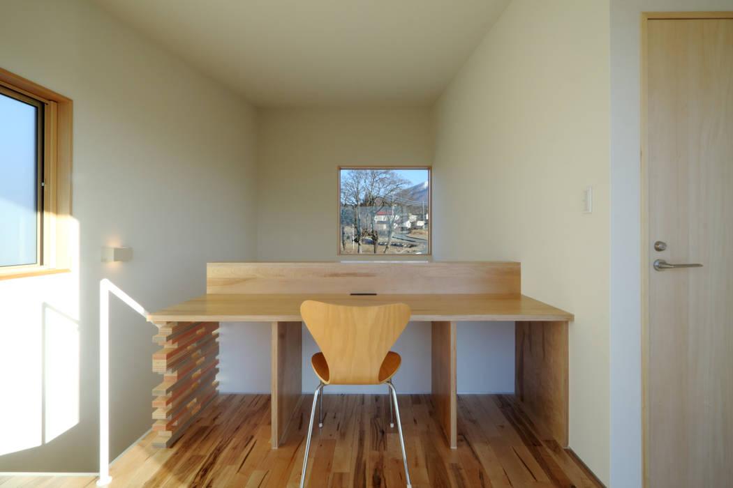 書斎 office.neno1365 モダンデザインの 書斎 木 木目調