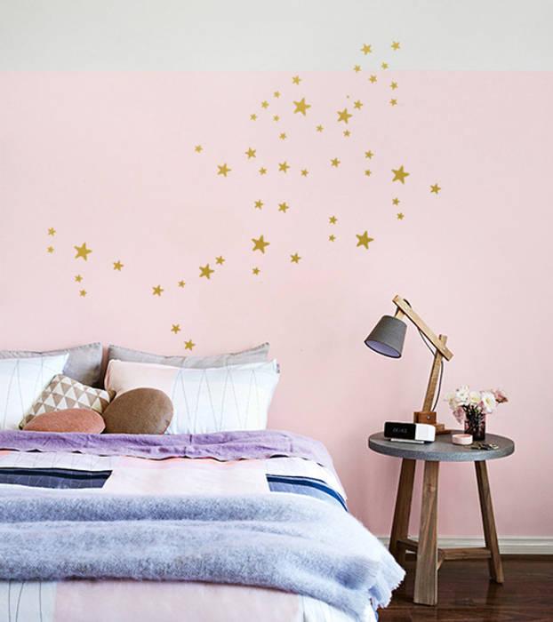 Kinderzimmer Deko Für S   Stars Sterne S Deko Design Diy Set Wandsticker Muster