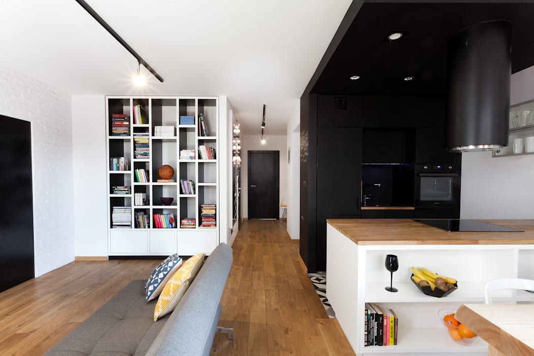 Living room by unikat:lab, Modern