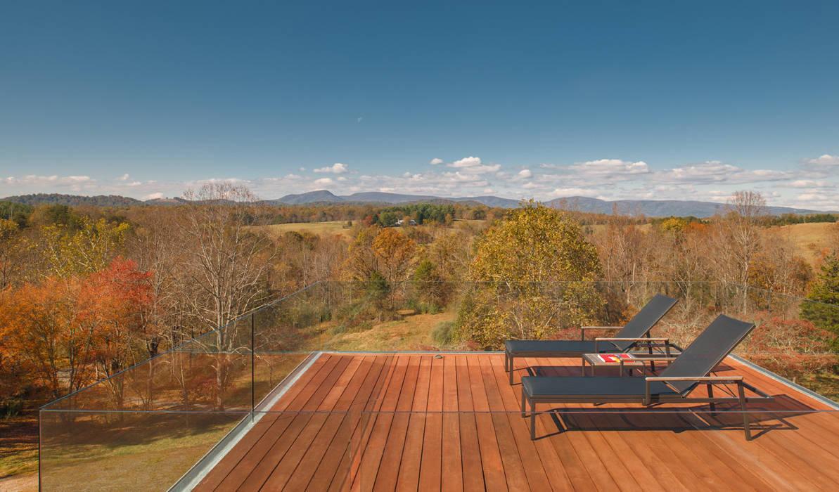 4 Springs Lane Moderner Balkon, Veranda & Terrasse von Robert Gurney Architect Modern