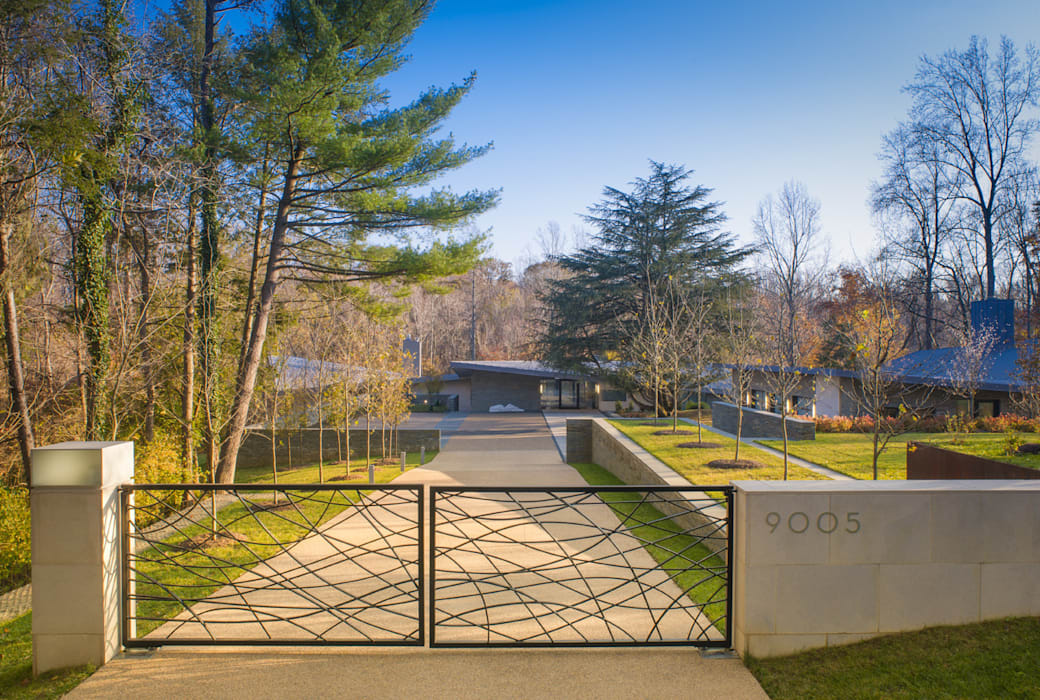 Difficult Run Residence Casas modernas: Ideas, imágenes y decoración de Robert Gurney Architect Moderno