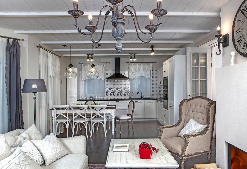 Дом в стиле прованс: Столовые комнаты в . Автор – Мария Бекетова  Света Лапина, Кантри