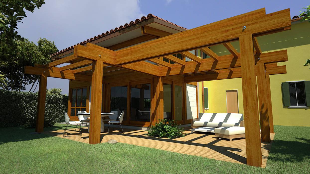Soppalco In Legno Per Esterno ampliamento in legno con soppalco giardino moderno di