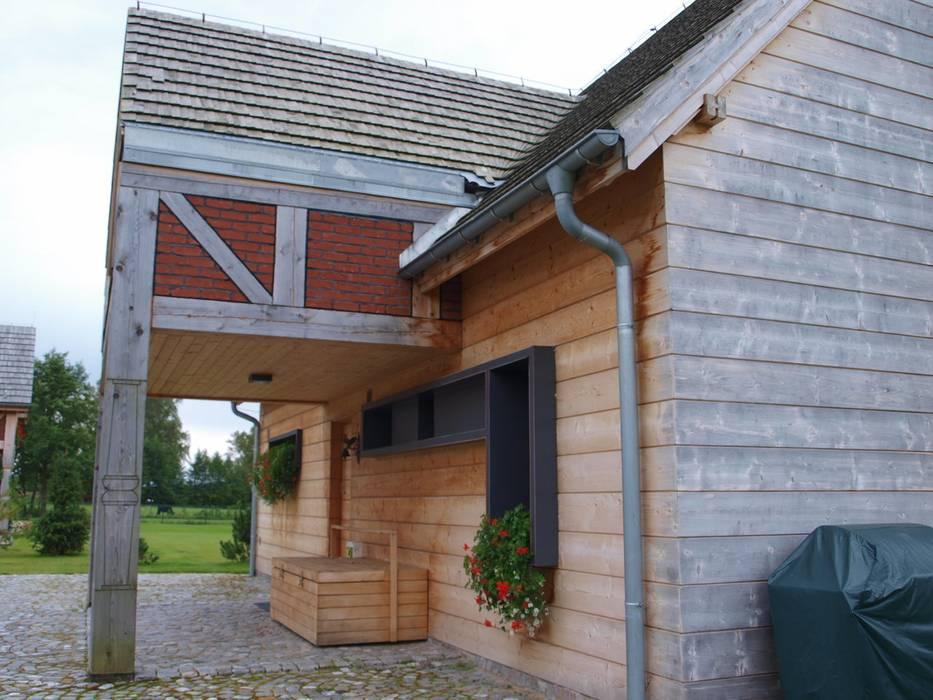 widok od strony wejscia do domu CUBICPROJEKT Wiejskie domy
