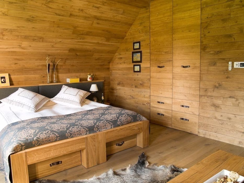 pokoj goscinny: styl , w kategorii Sypialnia zaprojektowany przez CUBICPROJEKT