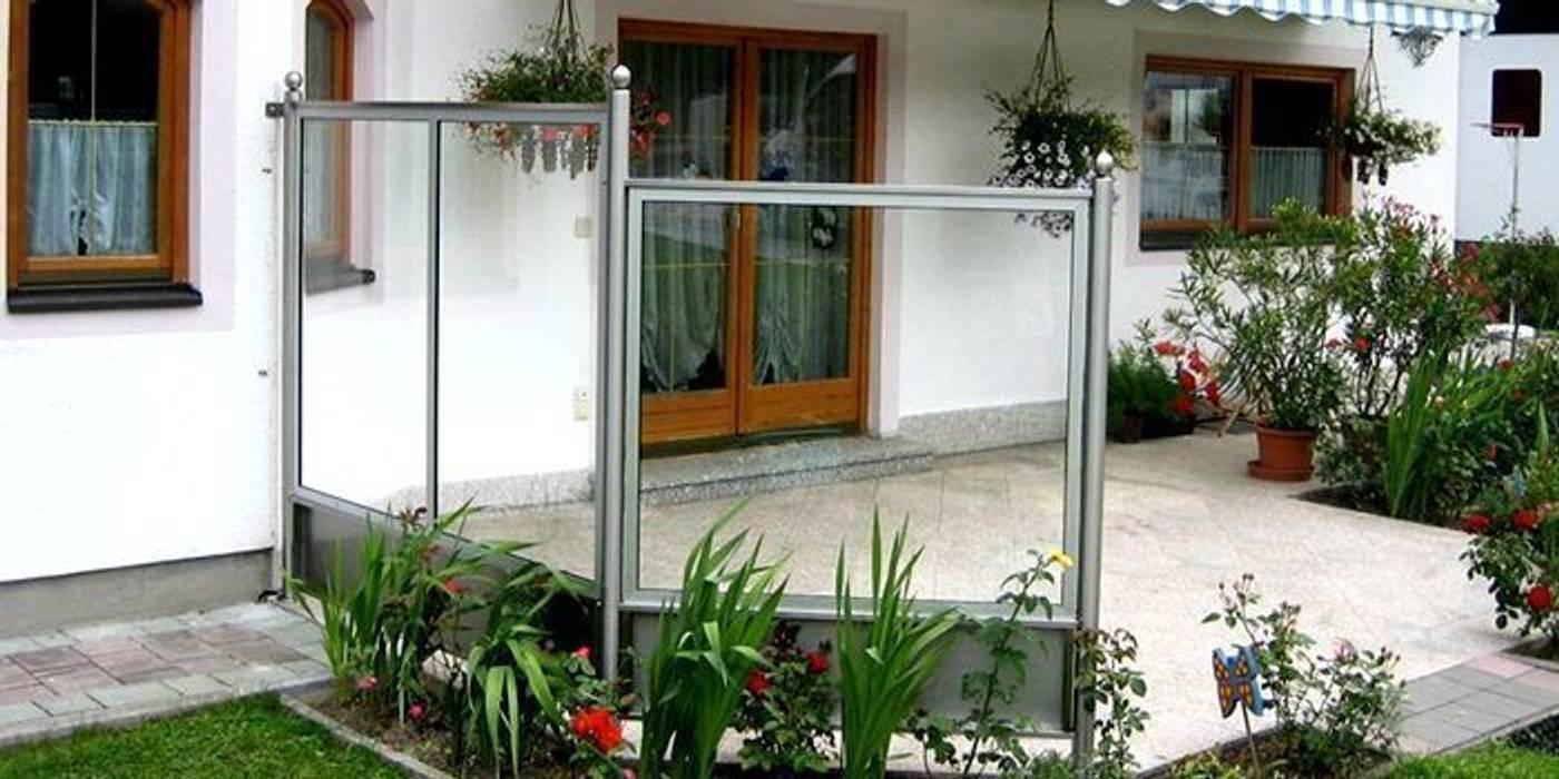 Windschutz Mit Rahmen Und Durchsichtigem Glas Moderner Balkon