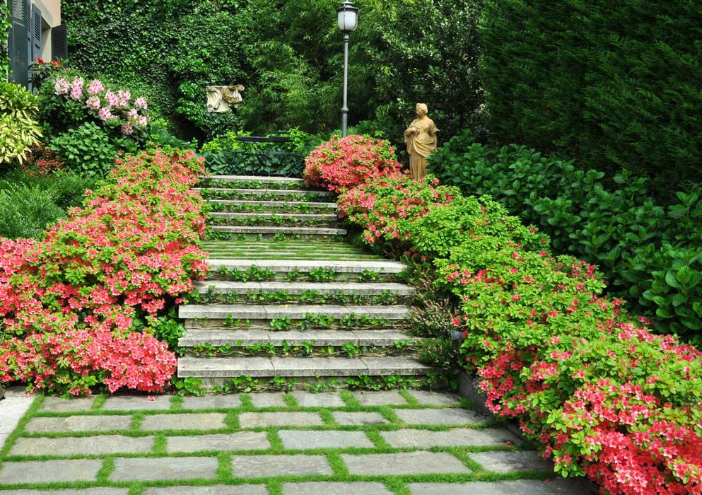 progetto giardino residenziale Giardino eclettico di MASSIMO SEMOLA PROGETTAZIONE GIARDINI MILANO Eclettico