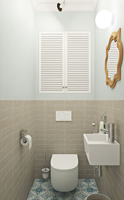 Скандинавское настроение Ekaterina Donde Design Ванная комната в скандинавском стиле