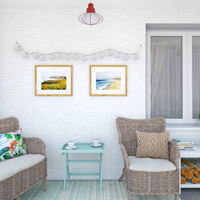 Скандинавское настроение: Tерраса в . Автор – Ekaterina Donde Design