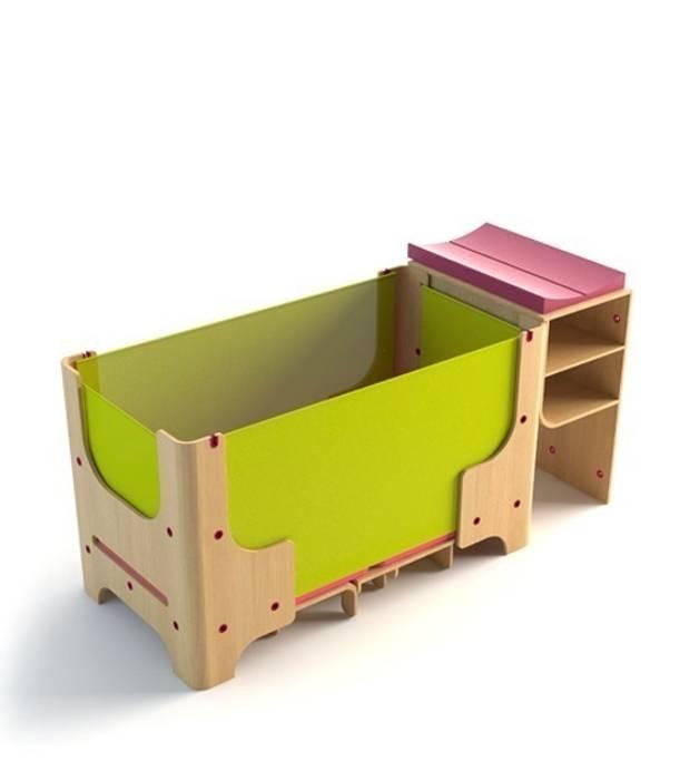 łóżeczko dziecięce - faza 2 Nowoczesny pokój dziecięcy od Grupa projektowa odRzeczy Nowoczesny