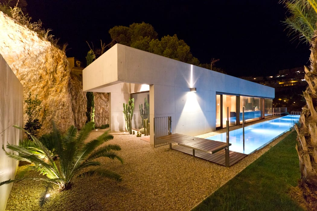 Ascoz Arquitectura Jardines de estilo minimalista