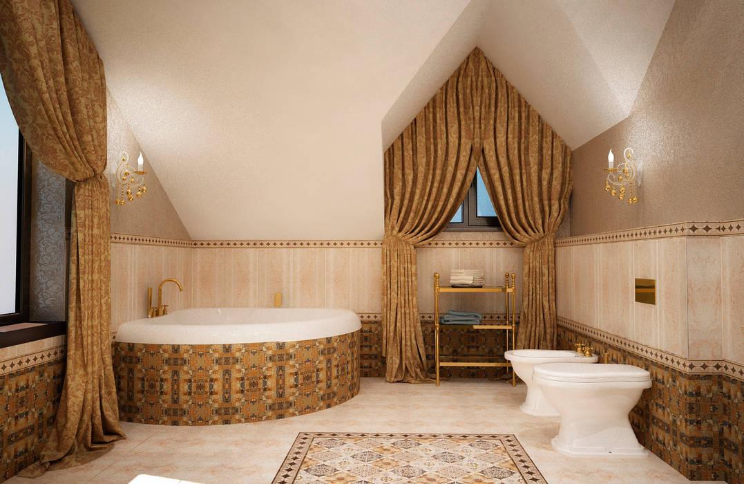 Ванная комната на мансарде: Ванные комнаты в . Автор – Настасья Евглевская, Классический